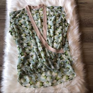 CAbi Butterfly Wrap Blouse Size Med Style 234